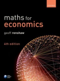 Renshaw, Geoff - Maths for Economics